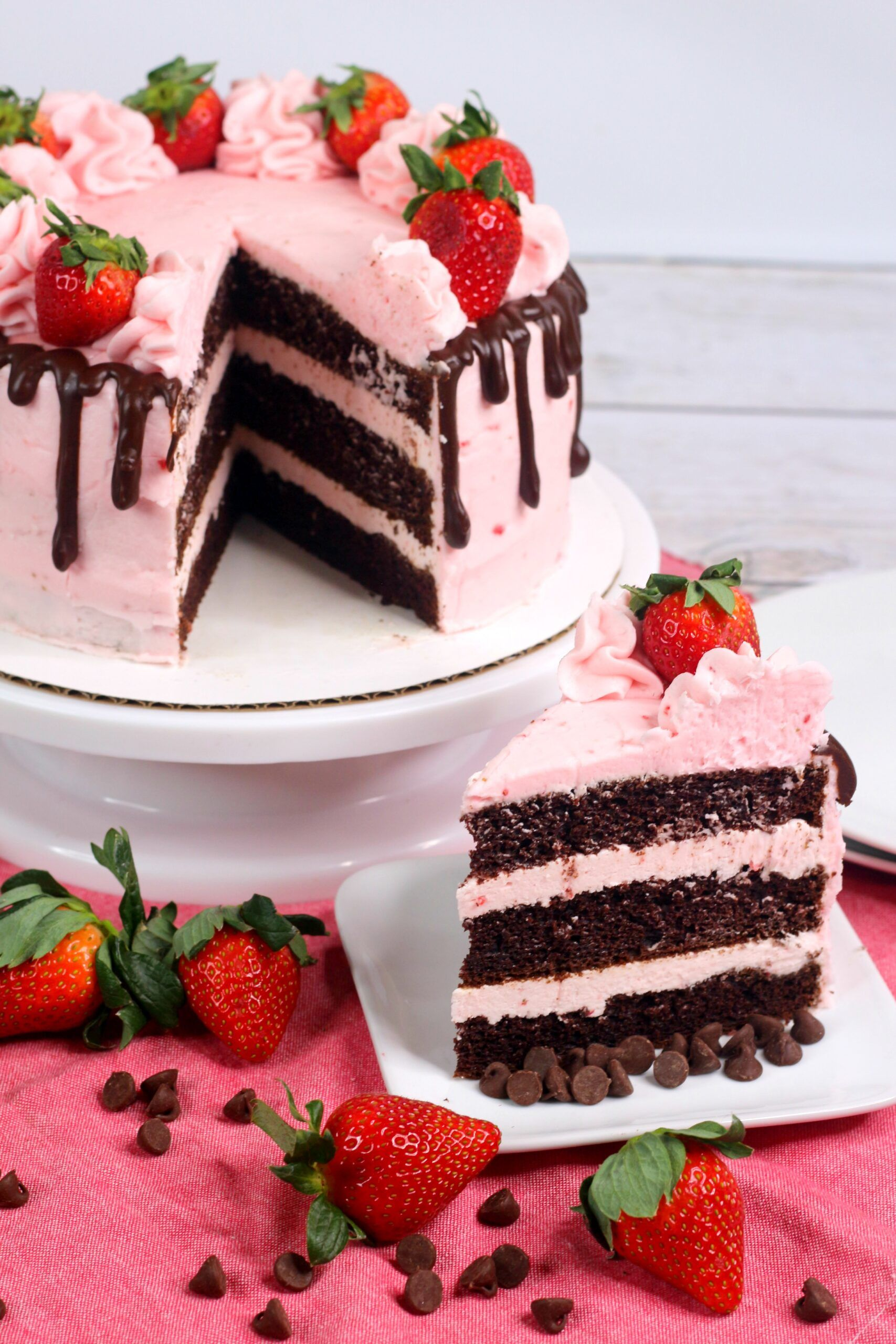 Excellent Chocolate Kahlua Cake With Strawberry Buttercream Frosting Personalised Birthday Cards Paralily Jamesorg
