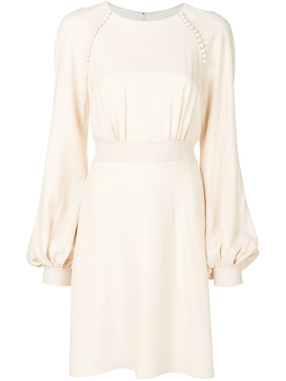 Chloé long-sleeved flared dress Cheap Online Store Manchester Hot Visit Online Cool Perfect Sale Online FUsqe