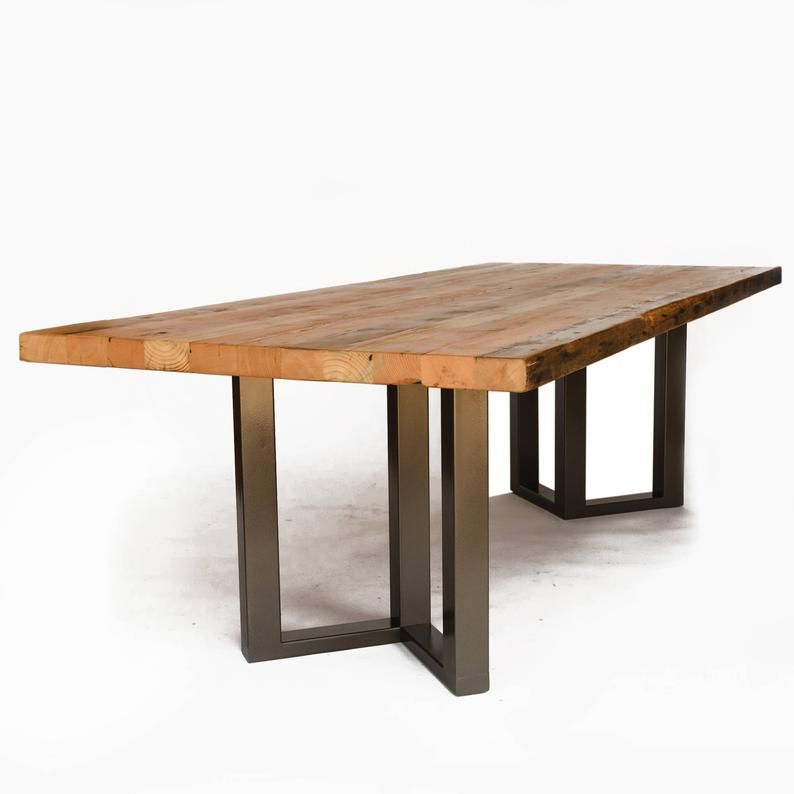 Thick Top Dining Table Made Of 2 5 Thick Reclaimed Wood Etsy Reclaimed Wood Conference Table Wood Conference Table Conference Table