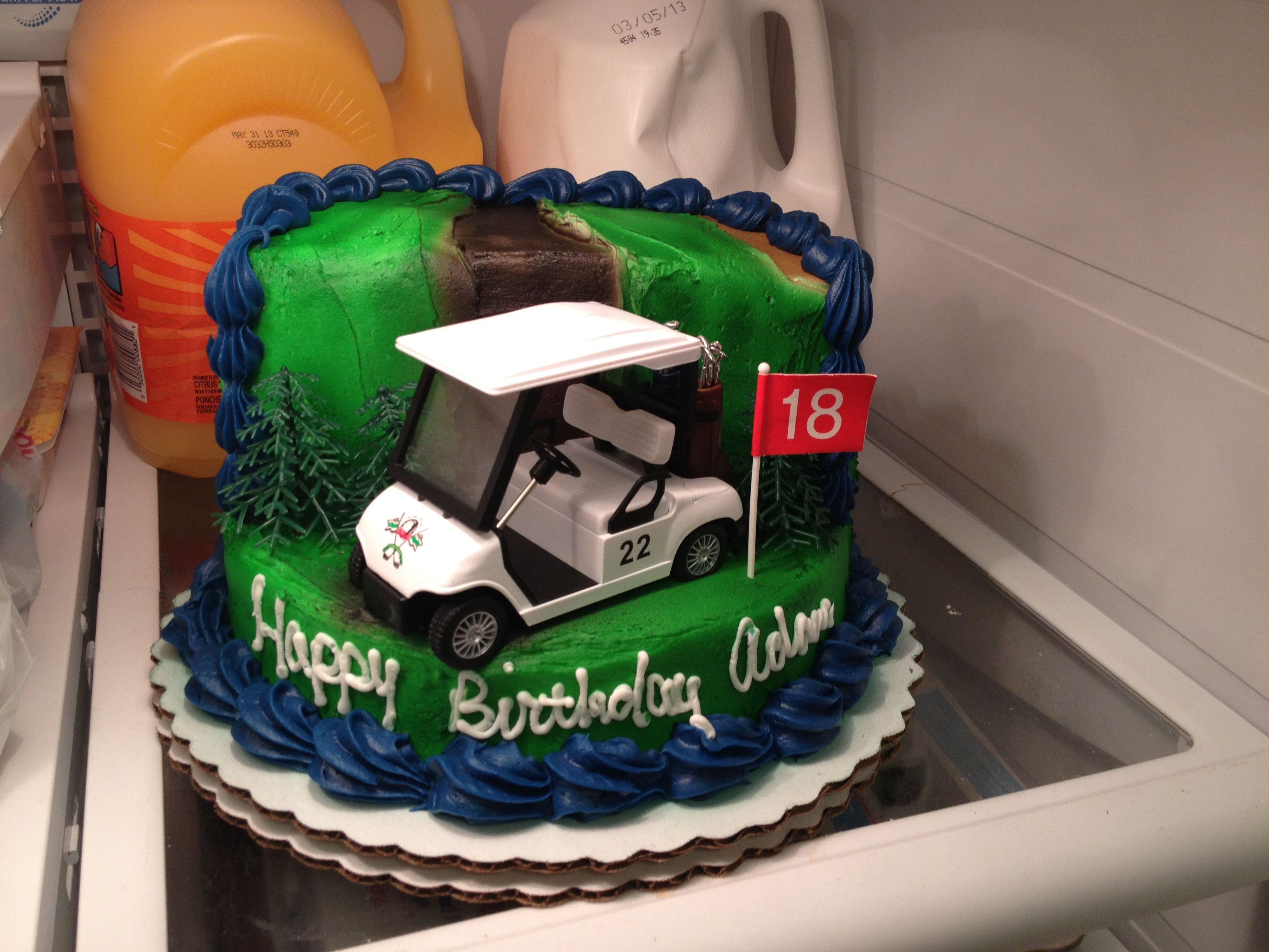 Golf themed birthday cakeWalmart Yummy in my tummy Pinterest
