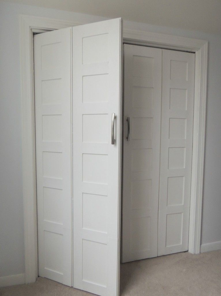 Marvelous Bi Fold To Paneled French Door Closet Makeover
