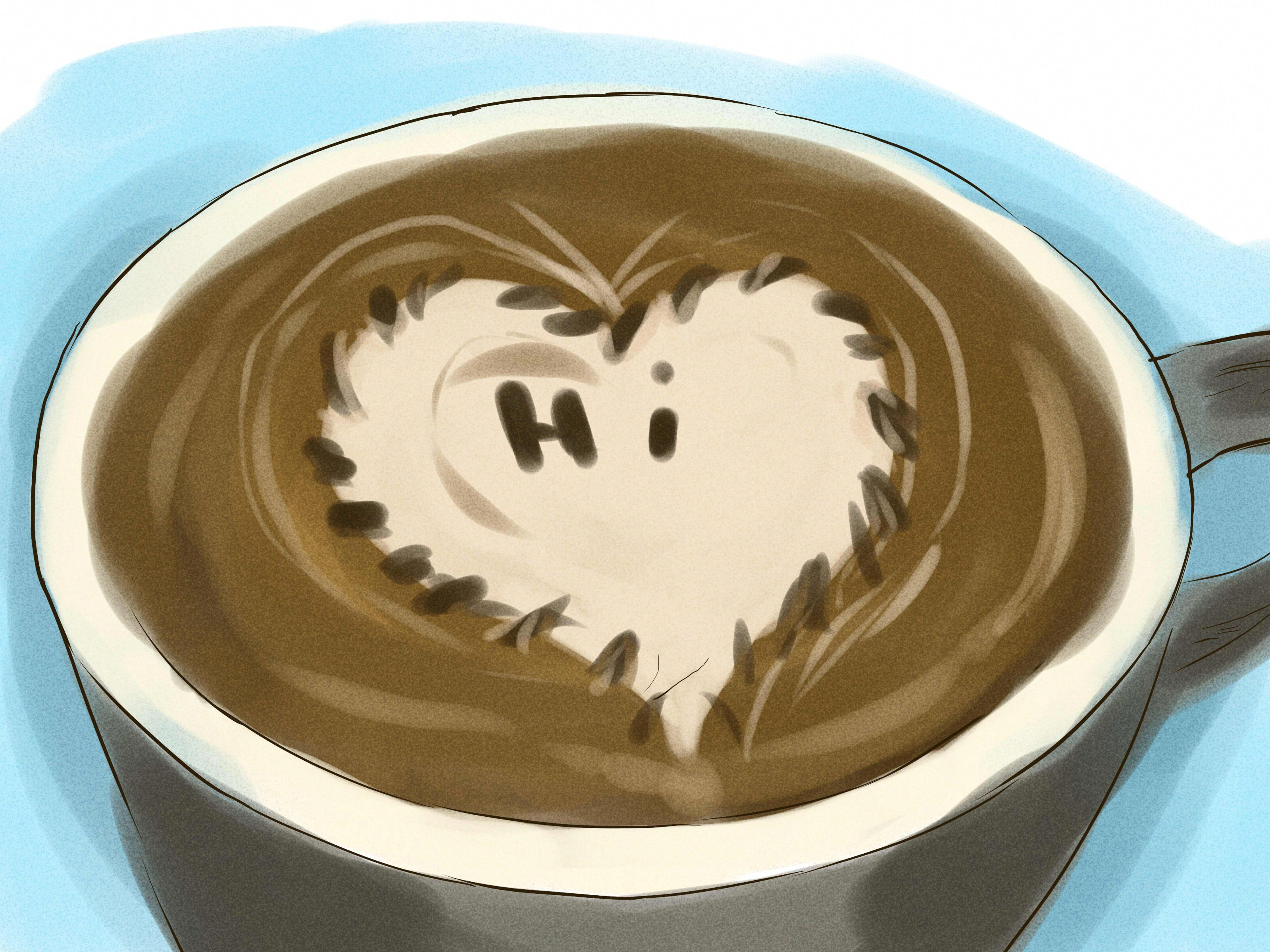 How to make latte art via