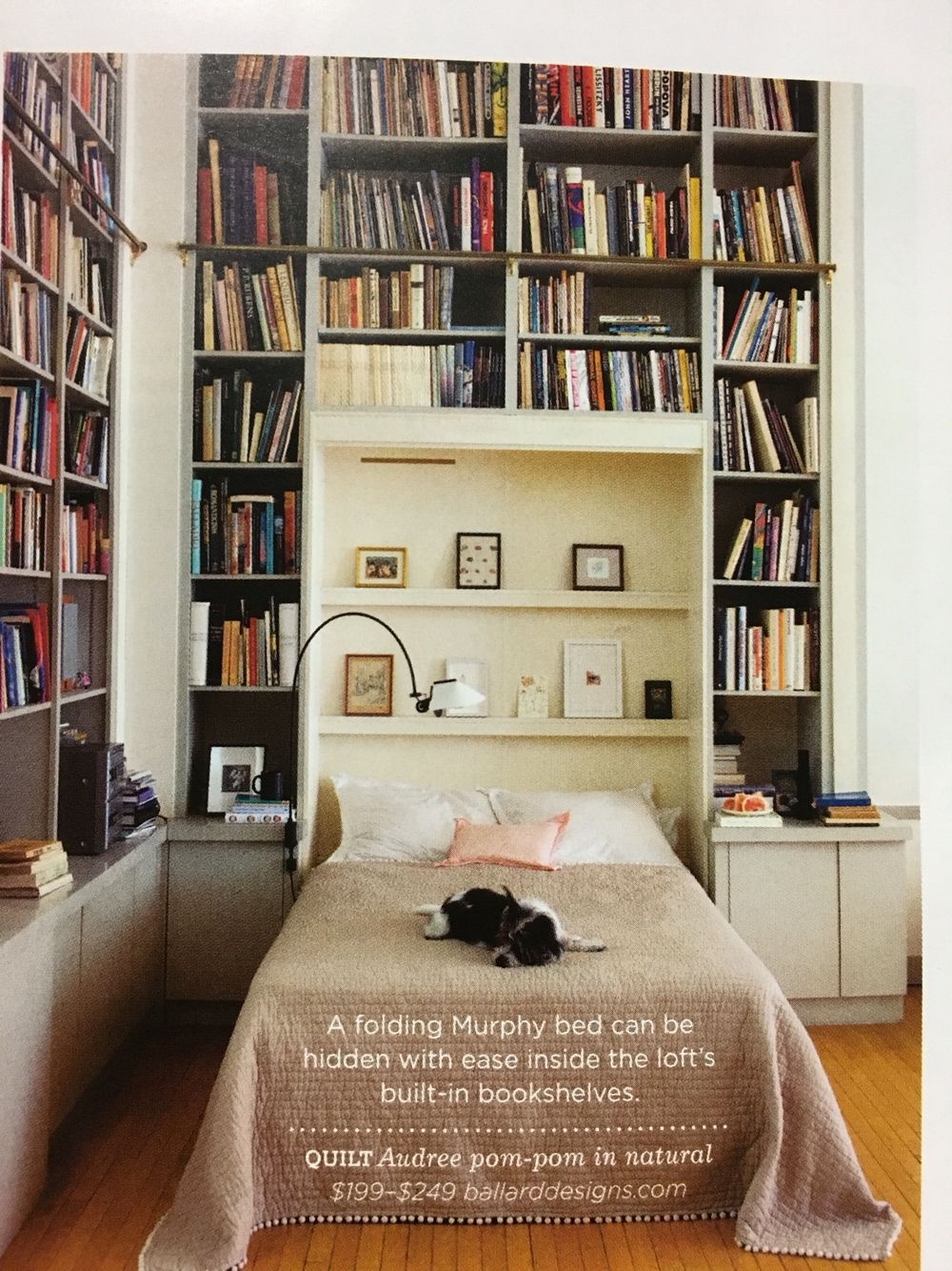 Murphy Bed Library Home Library Design Small Home Libraries