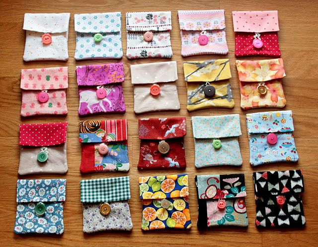 """""""sew simple!"""" gift bags for friends..."""