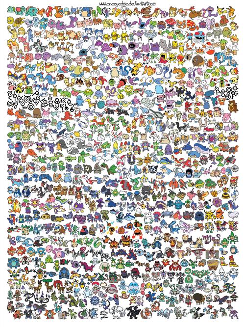 All the pokemon