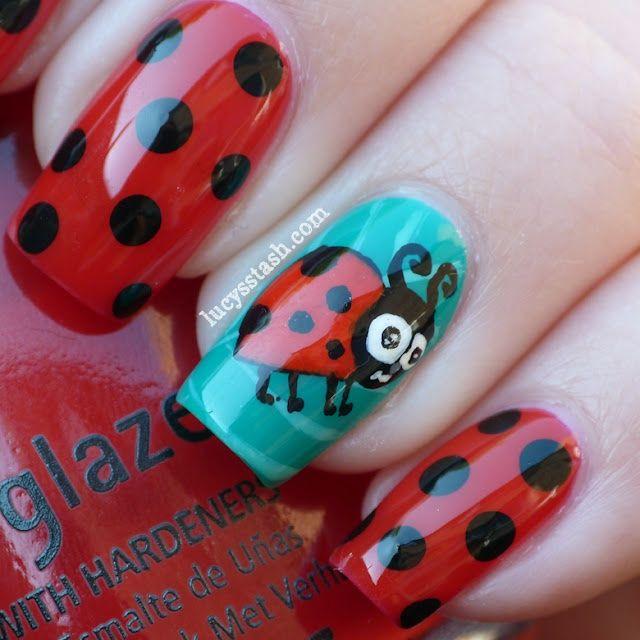 Ladybug Nail Art I Know Ma Girl Would Love Dis D Paisley