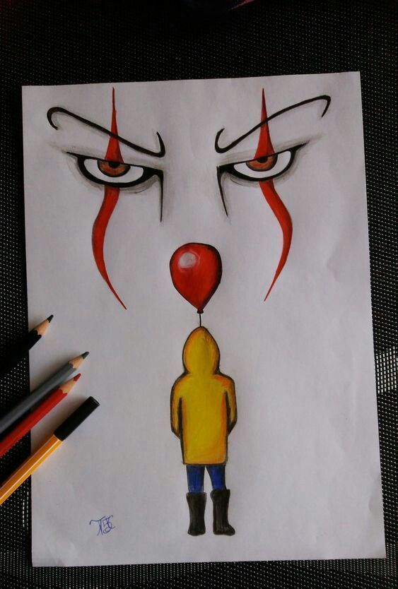 It The Clown Pencil Drawing It The Clown Pencil Tutoriel De Dessin Dessins D Art Au Crayon Dessin Au Crayon