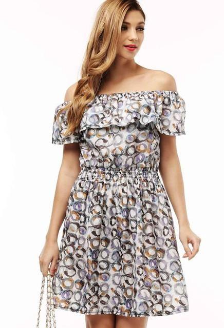 df150f7faf2 2017 fashion new Spring summer plus size women clothing floral print pattern  casual dresses vestidos. Gender  Women Dresses Length  Knee-Length  Neckline  ...