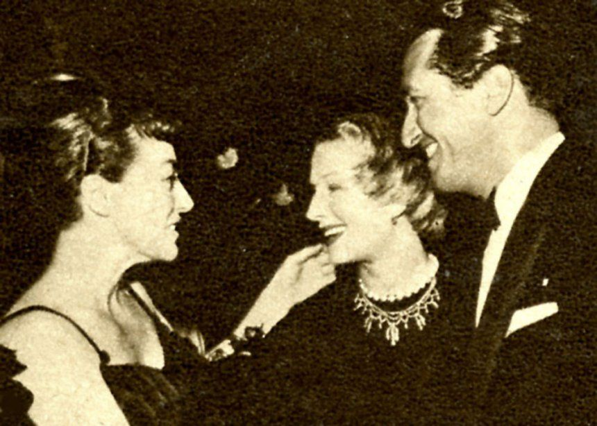 Joan Crawford, Norma Shearer and husband Martin Arrouge