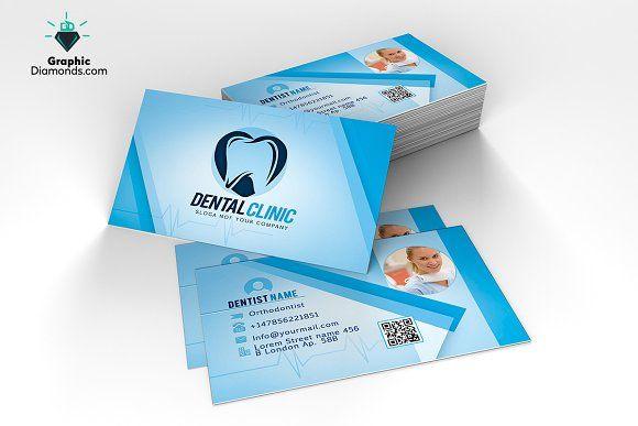 Dentist Business Card Template Business Cards Creative Templates Business Card Template Business Card Template Psd