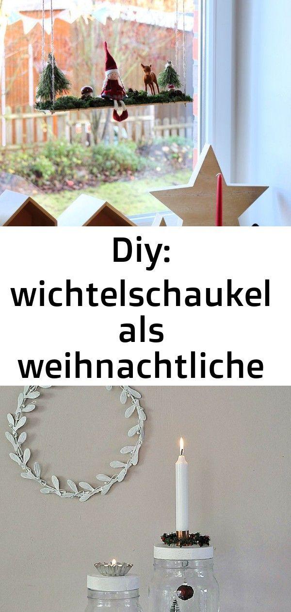 Diy: wichtelschaukel als weihnachtliche fensterdeko 2