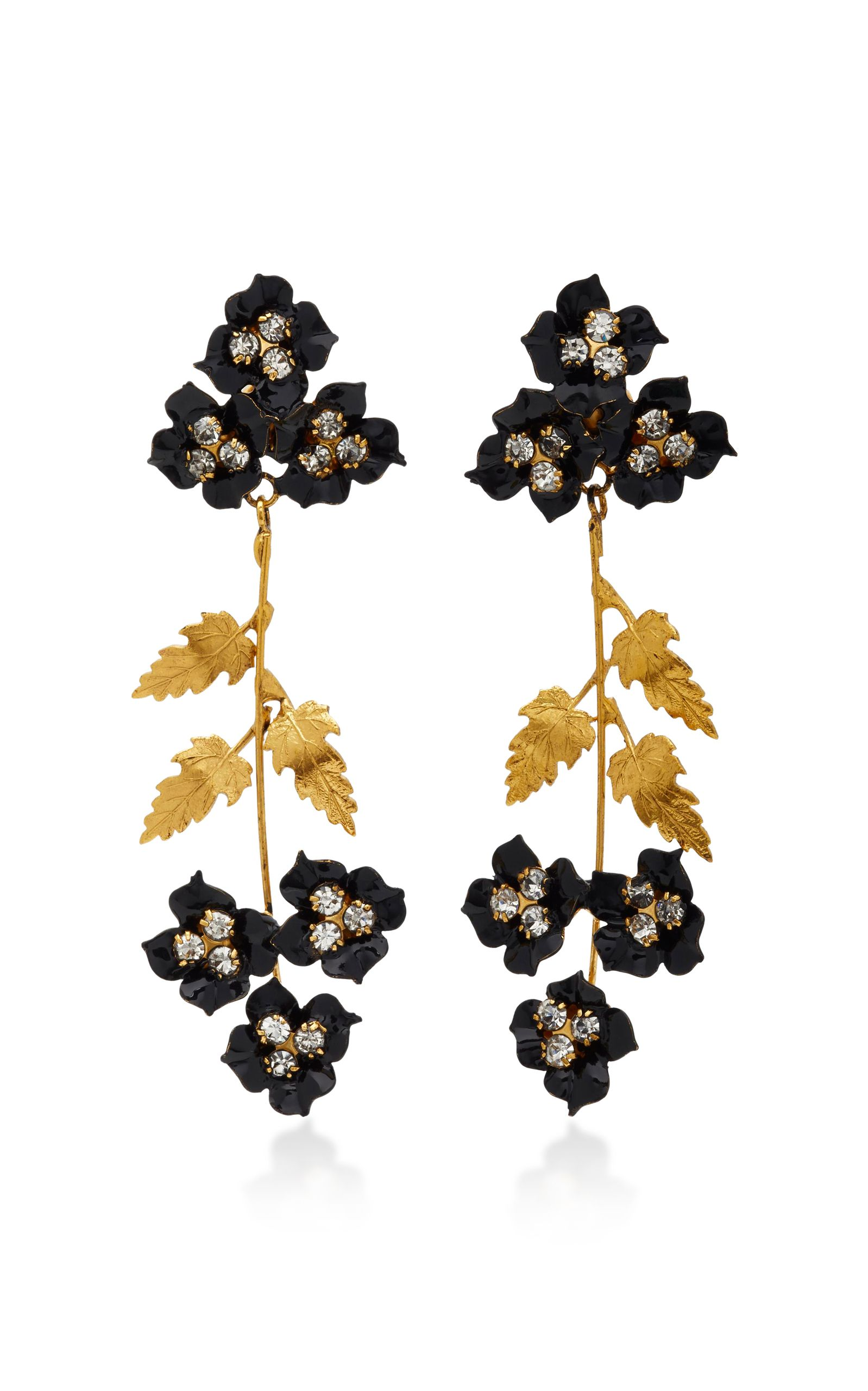 Belinda Gold-Plated Swarovski Crystal Earrings Jennifer Behr R7BPsY