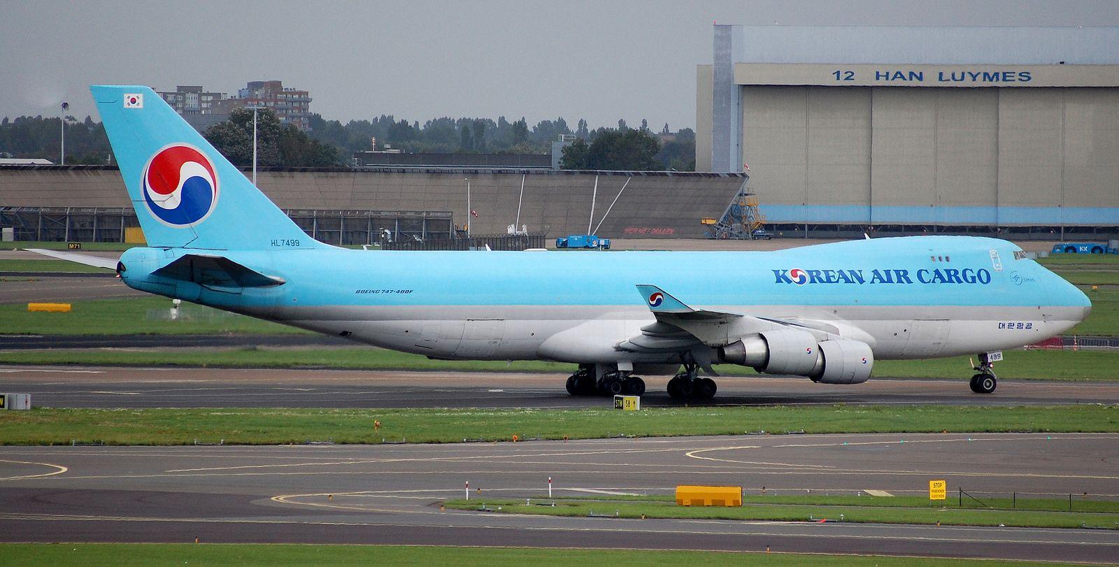 Amsterdam 2015 (395) HL7499 B747400FKorean Air Cargo