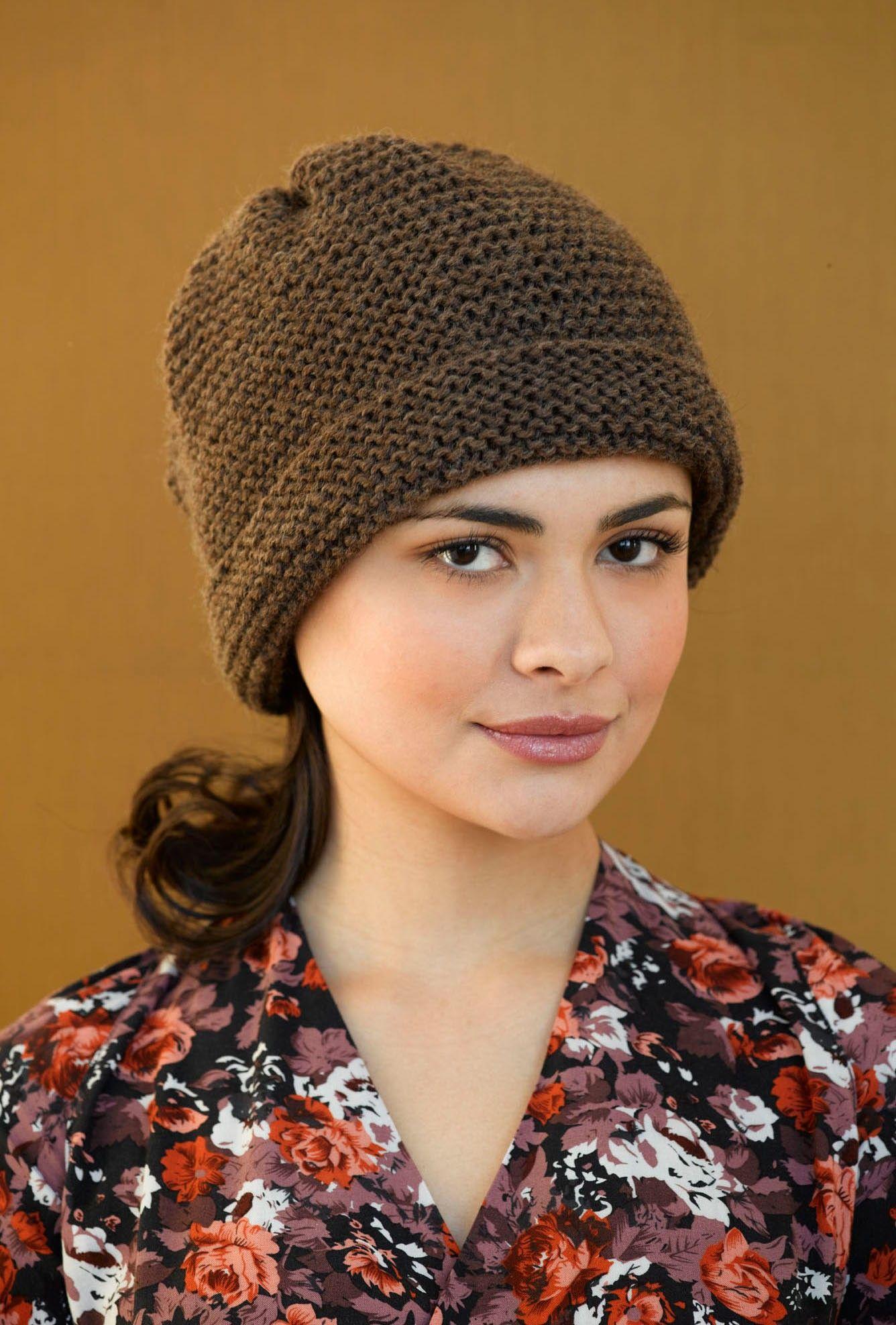 Simple Garter Hat Pattern (Knit)   Hats caps & bonnets   Knitting