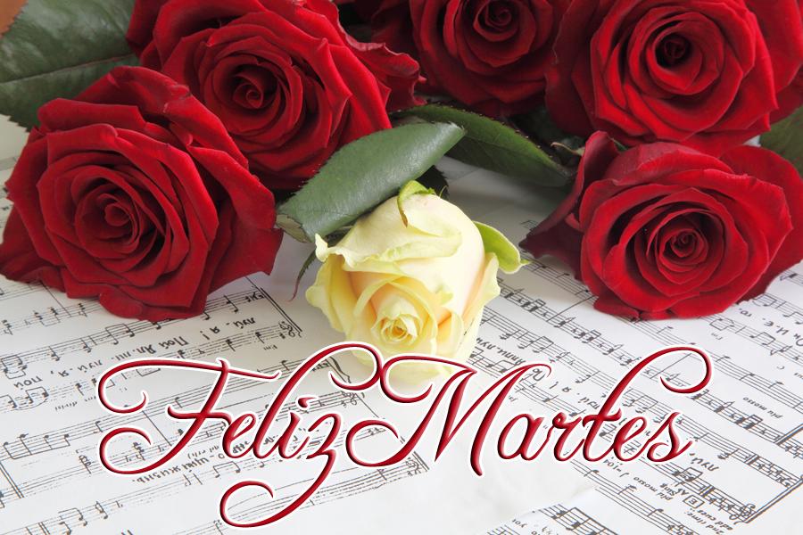 Resultado de imagen para rosas con feliz martes