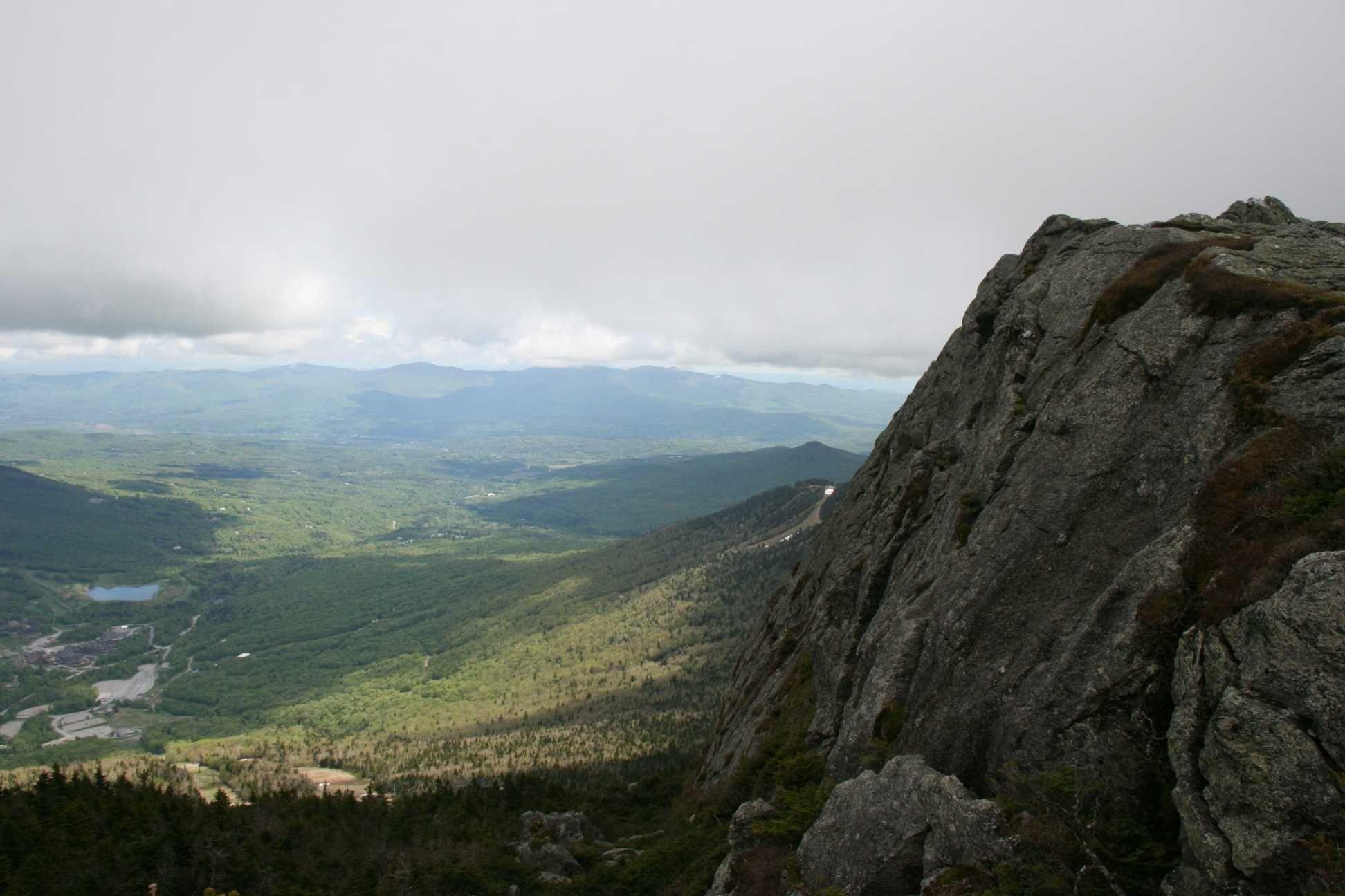 Vue sommet Mansfield, Vermont, mai 2014