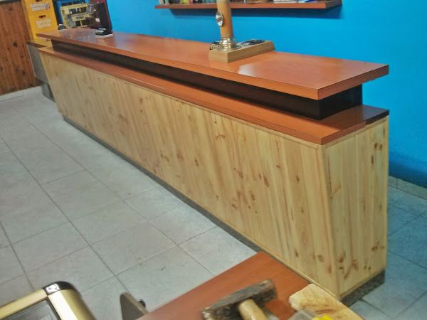 como hacer una barra bar con estivas de madera buscar