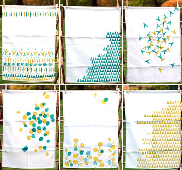 Make Your Own Gorgeous Geo Hand Printed Tea Towels Estampagem