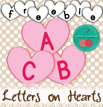 free abc hearts great for names activities at valentineu0027s day it valentines name