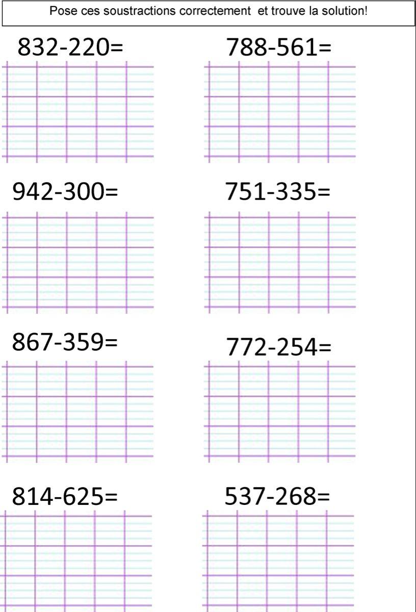 calcul CE2   Le BLOG de Monsieur Mathieu en 2020   Calcul ...