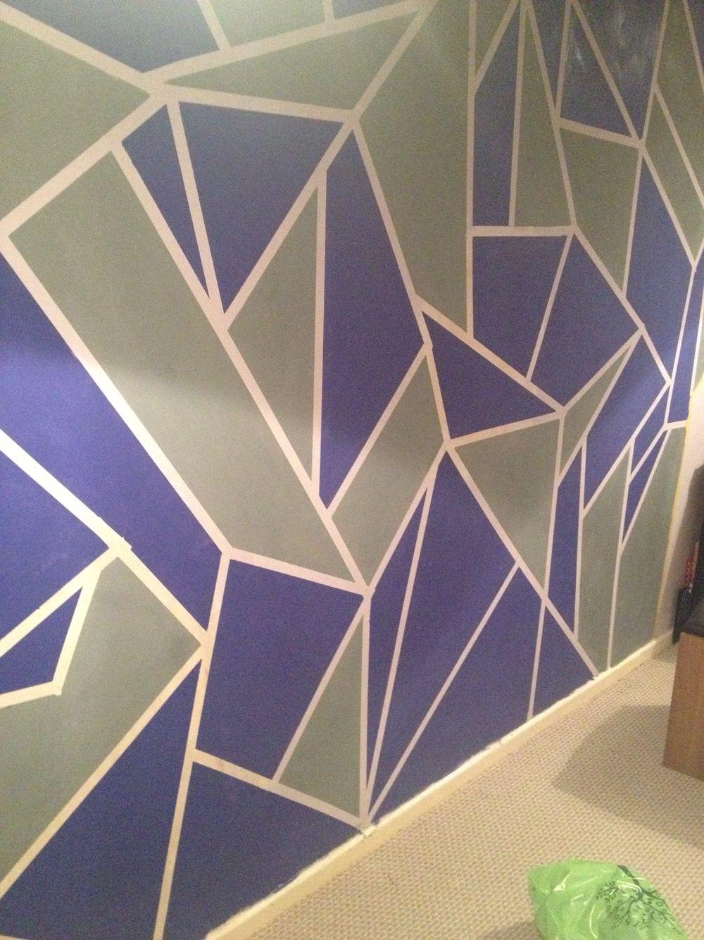frog tape feature wall | zoe bedroom | pinterest | walls, wall