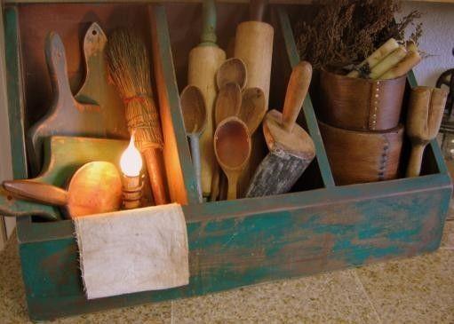 Kitchen Witchery:  Primitive #kitchen #utensils for the Kitchen #Witch.