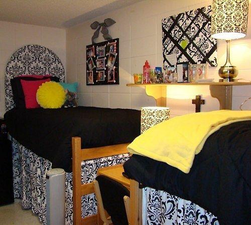 lights canopy beautifully arranged wall decor dorm bed canopy idea - Yellow Canopy Decor