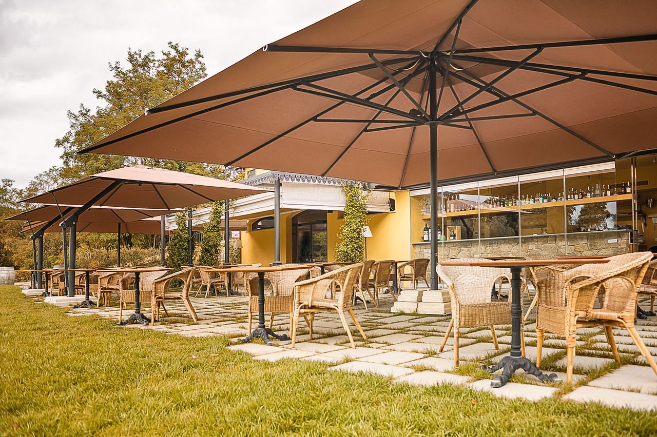 Add Grandeur To Any Space With Poggesi Large Outdoor Umbrella Patio Inspiration Outdoor Umbrella