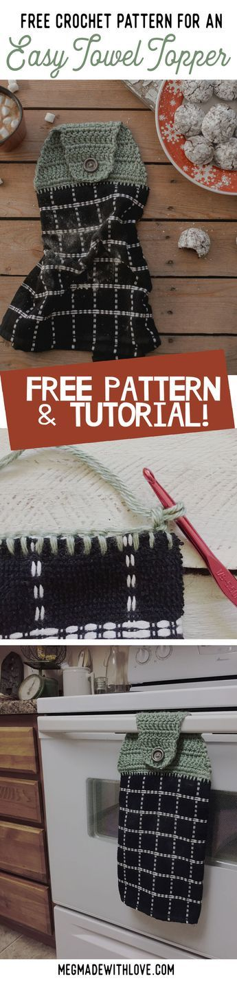 New Free Crochet Pattern For An Easy Towel Topper Free Crochet