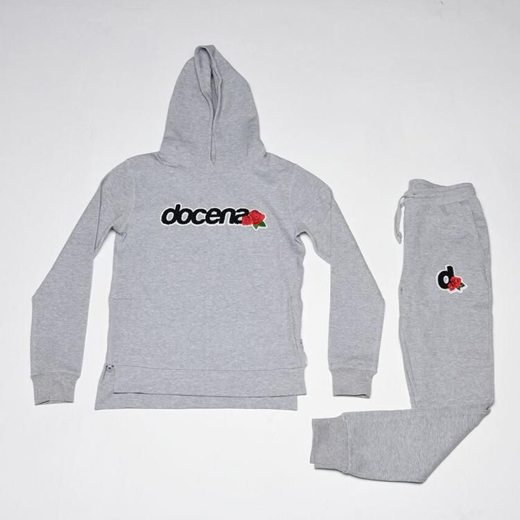 Docena Grey Hooded Sweatsuit - Grey