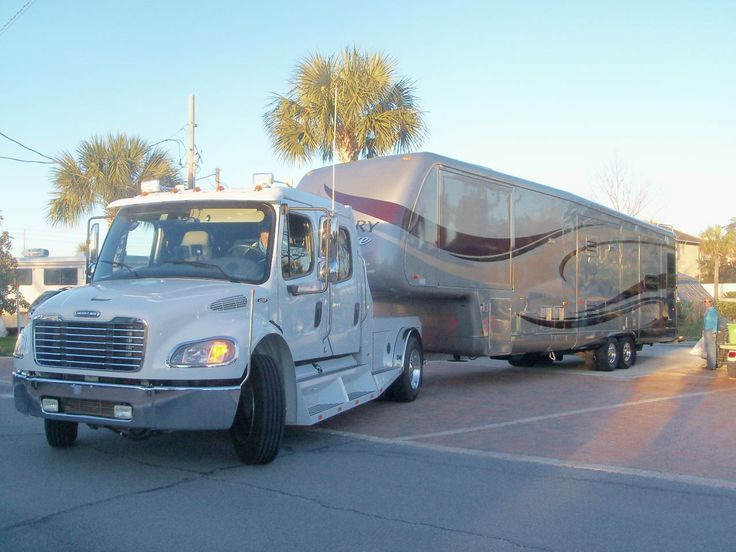 Kountry Aire And Freightliner Truck Fifth Wheel Campers Cool Rvs