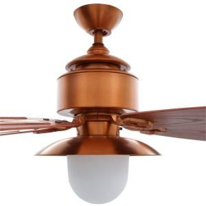 Hampton bay copperhead 52 in indooroutdoor weathered copper indooroutdoor weathered copper ceiling fan with light kit and wall control aloadofball Image collections