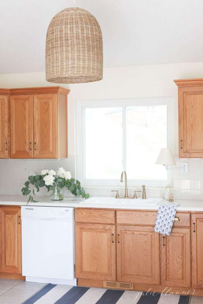Oak Kitchen Cabinets, Updating Oak Cabinets