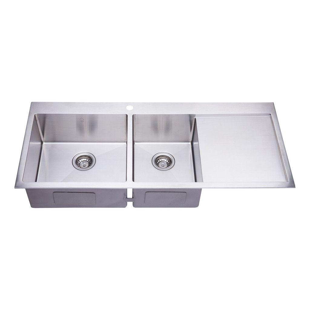 Bai 1235 48 Handmade Stainless Steel Kitchen Sink