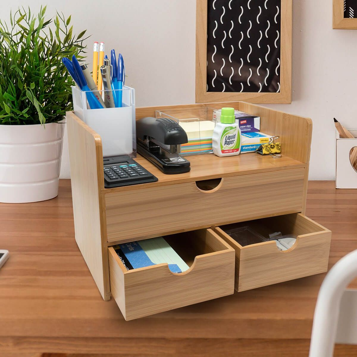 30 Imaginative Office Desk And Storage Ideas To Keep Your Work Space Productive Desk Organization Desk Storage Shelf Organization