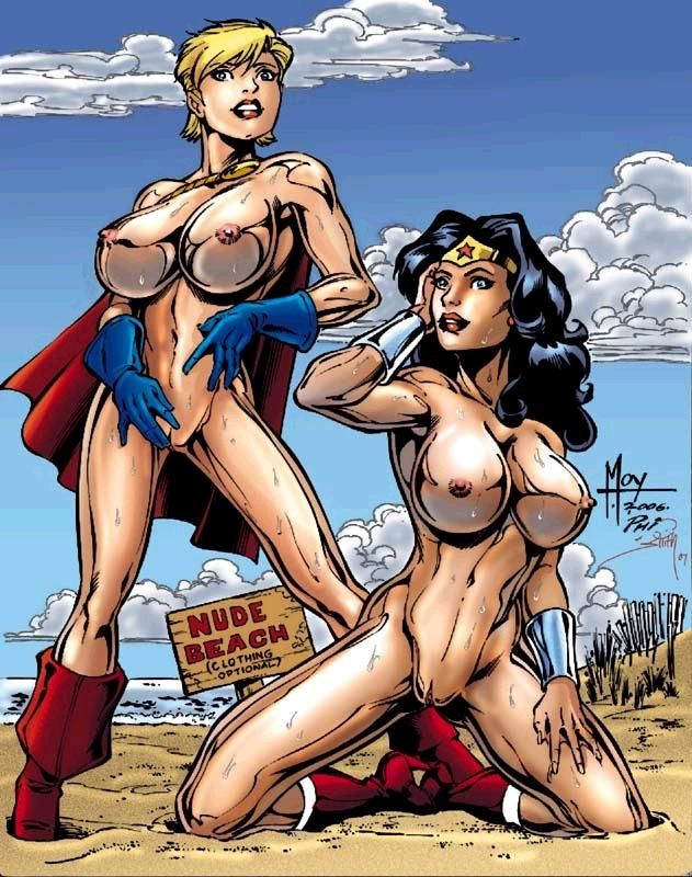 Nude beach wonder woman