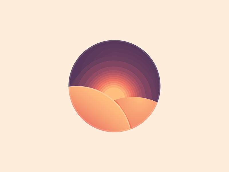 Sunset Sunset Dreamlike Abstract Artwork