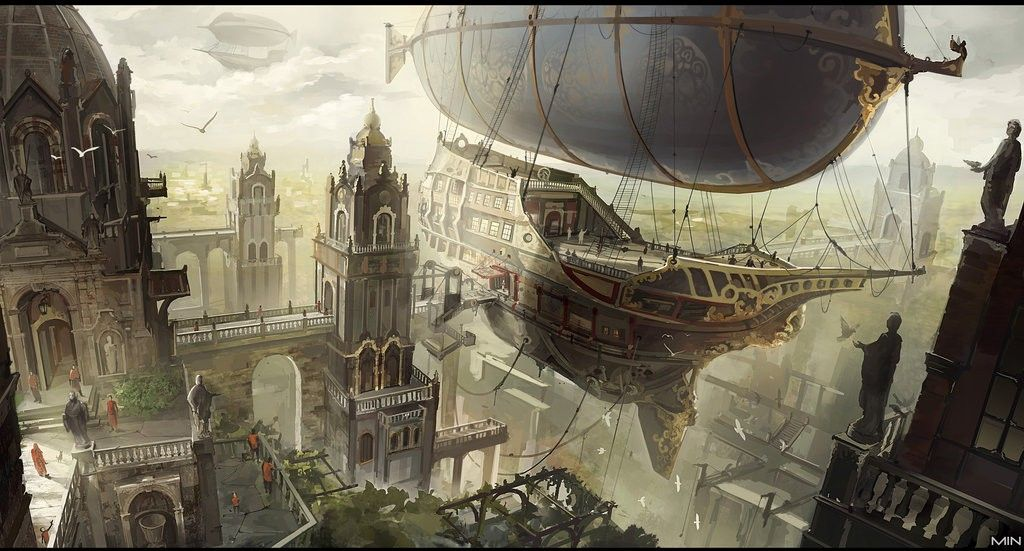 042bf2877470f We Cannot Allow This Awful Idea for Airport Design to Become Real Steampunk  Airship, Steampunk
