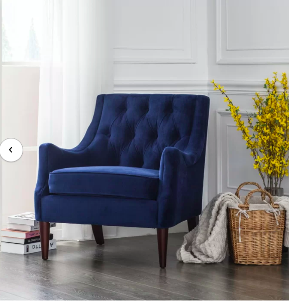 Koss Tufted Armchair In 2020 Blue Chairs Living Room Velvet Chairs Living Room Blue Velvet Chair Living Rooms #velvet #accent #chairs #living #room