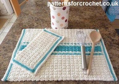 Handdoek Ophangen Keuken : Free crochet pattern kitchen towel and dishcloth crochet kitchen