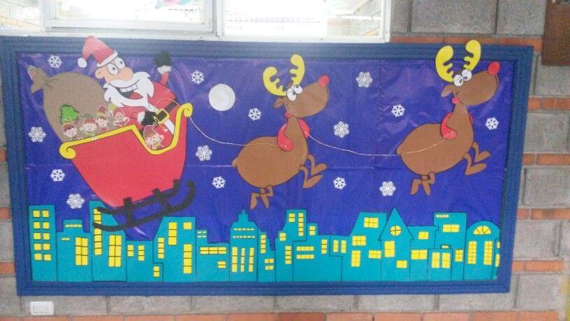Mural montebello navidad pinterest murales duende - Murales decorativos de navidad ...