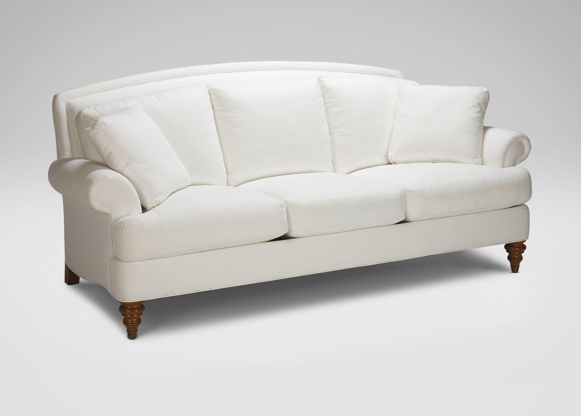 Ethan allen sofas living room hyde three cushion sofa ethan allen