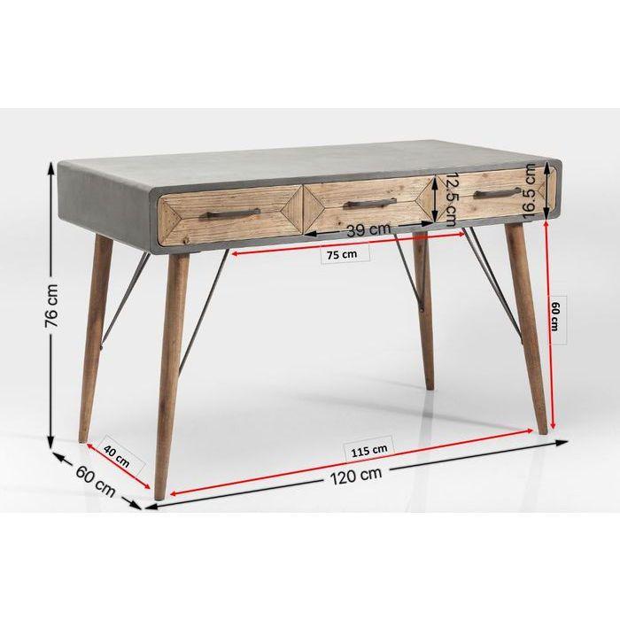 Desk X Factory 3 Drw 120x60cm