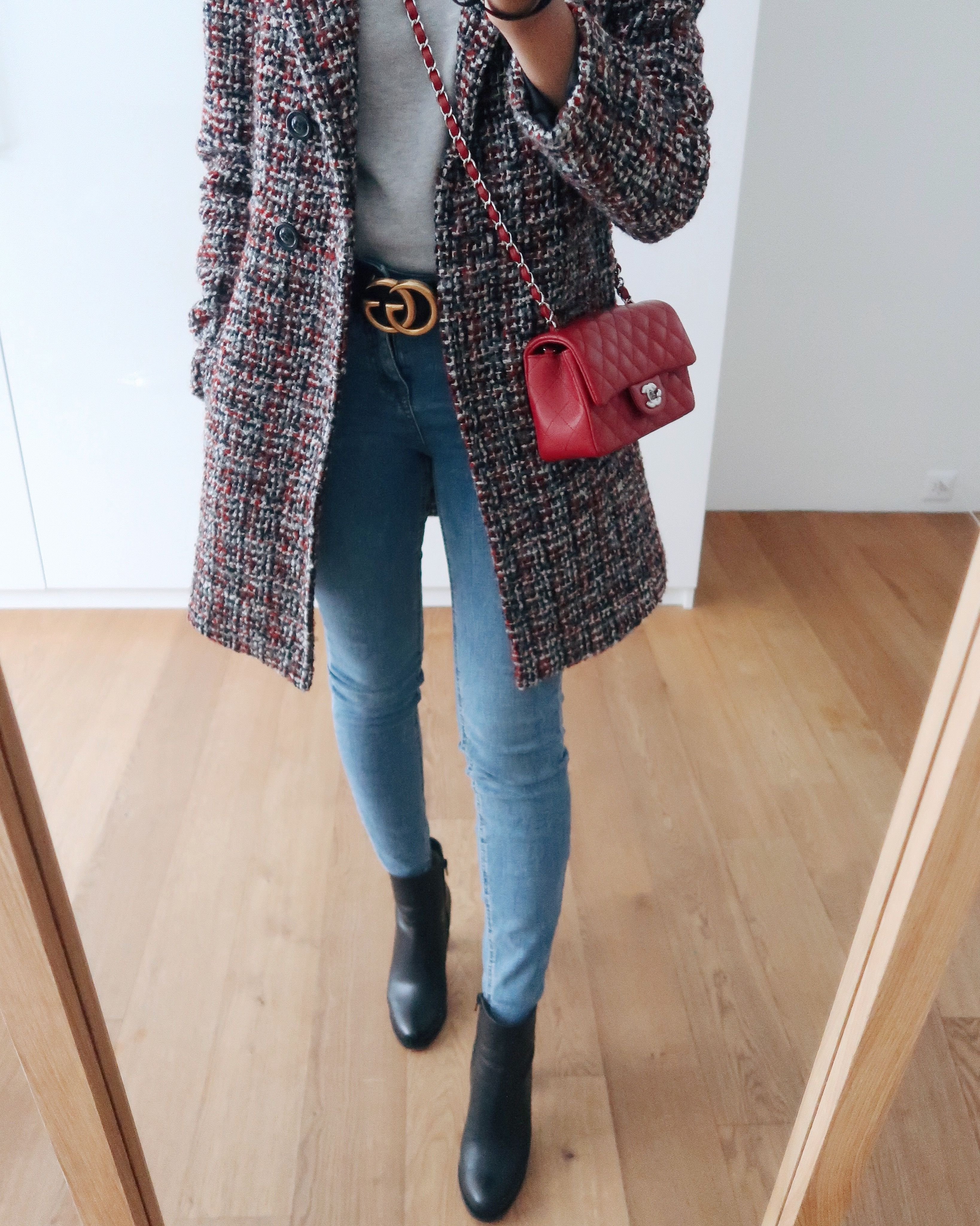 new arrival 78596 4cef8 Casual autumn outfit with Christian Louboutin Adox boots ...