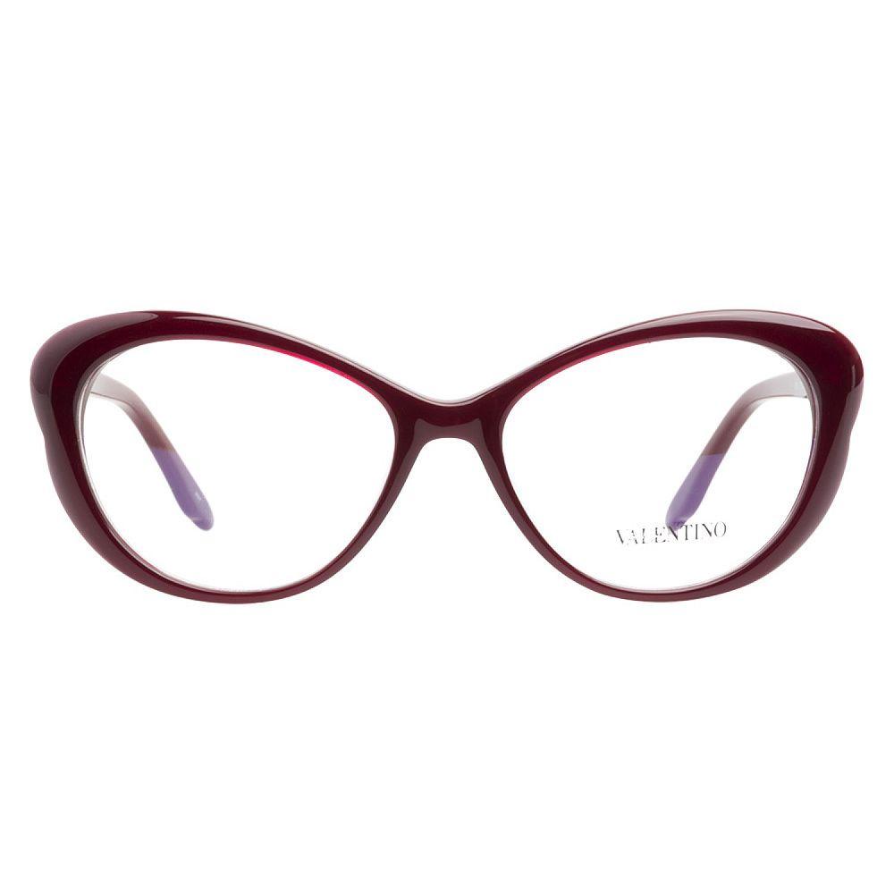 Valentino V2602 606 Rouge Noir Prescription Eyeglasses | Overstock ...