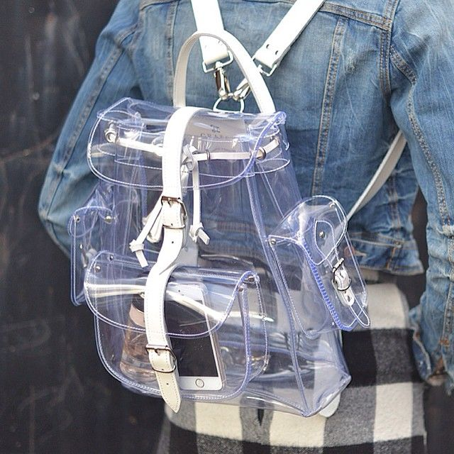 «Transparent and White combination. #grafea #backpack #rucksack coming soon»