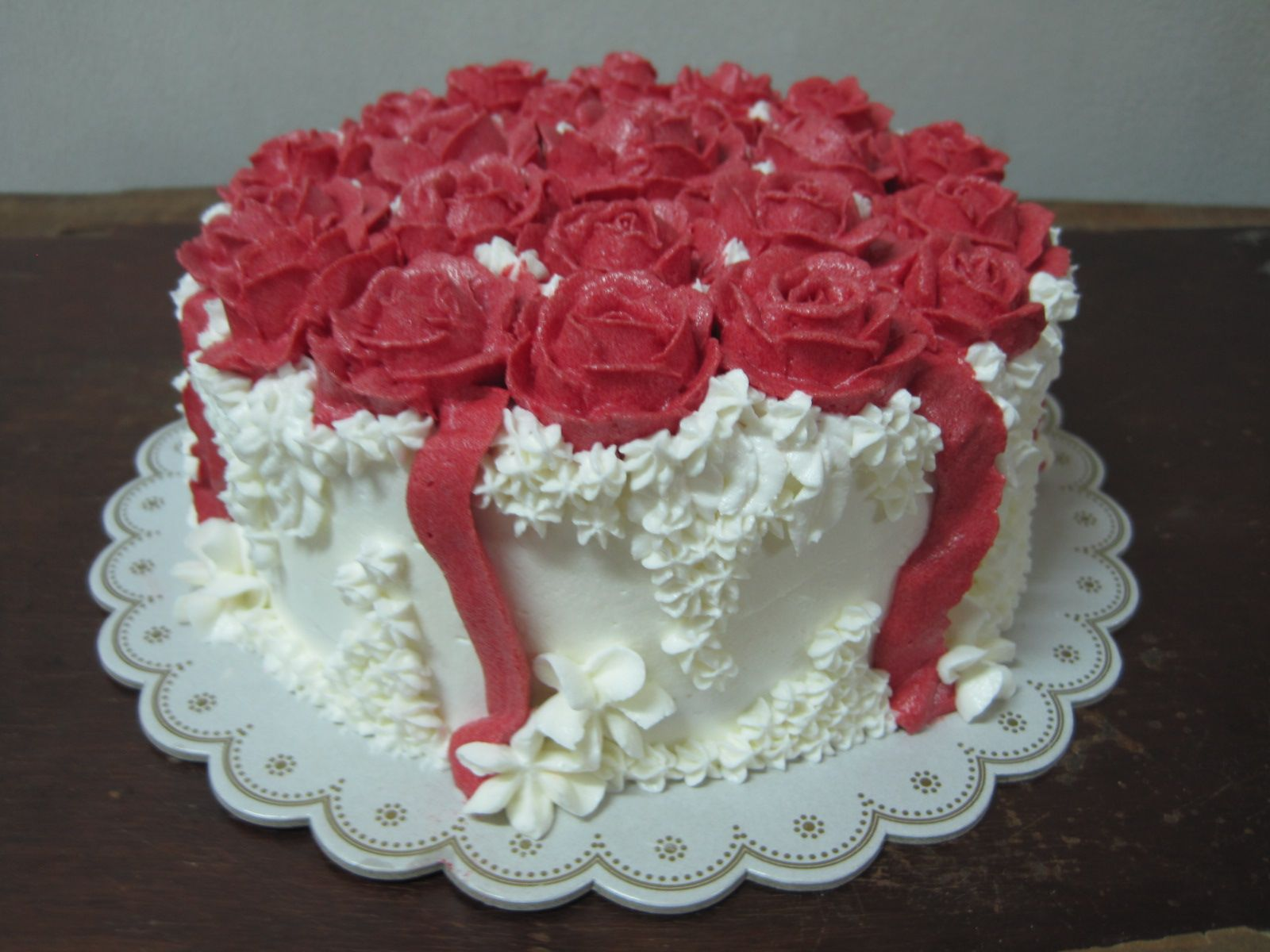 Best Wide_happy birthday cake with red roses | Hd ...