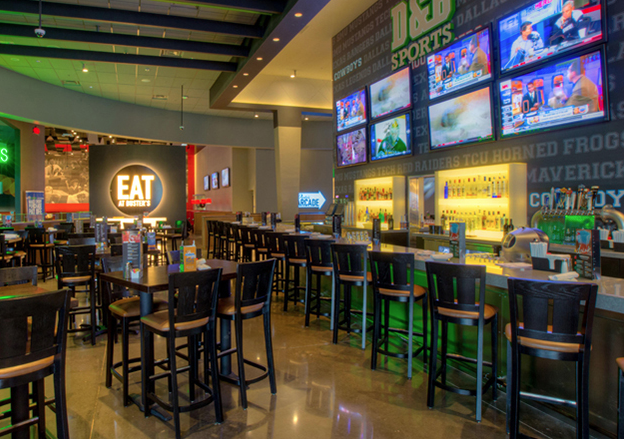 Check out Hollywood Dave & Buster's NEW SPORTS BAR with