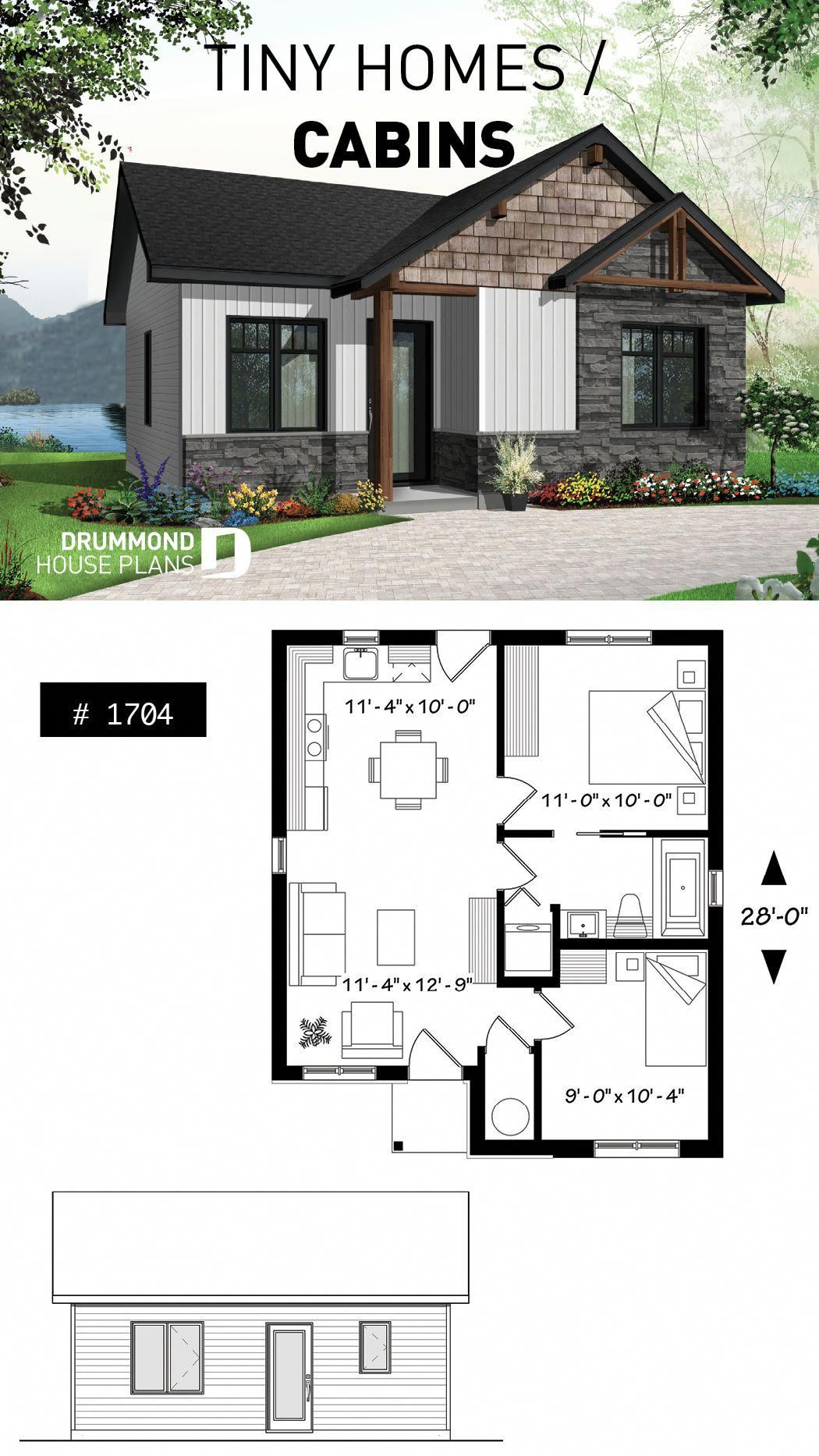 Contemporary Rustic Home Scandinavian Inspired Low Building Costs Ideal For First Home Buyers 2 Bedrooms F Small Rustic House House Plans Tiny House Cabin