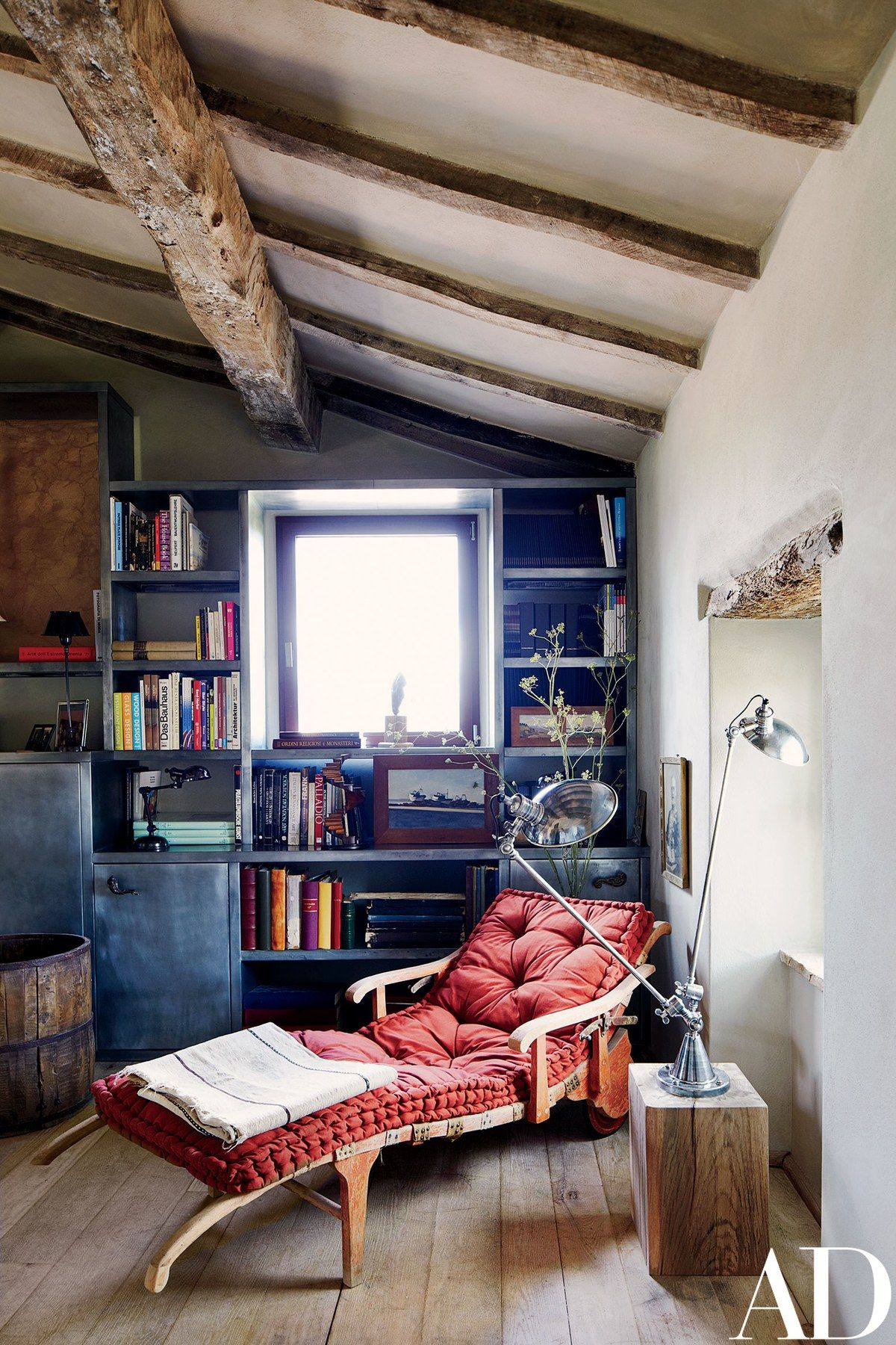 inside the transformation of a rustic italian farmhouse study